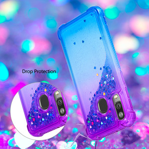 Image 3 - Fashion Phone Cases for Samsung Galaxy Note 10 Pro/Plus Note 10 Case for A40 A20e A10e Glitter Hearts Liquid Soft TPU Back Cover