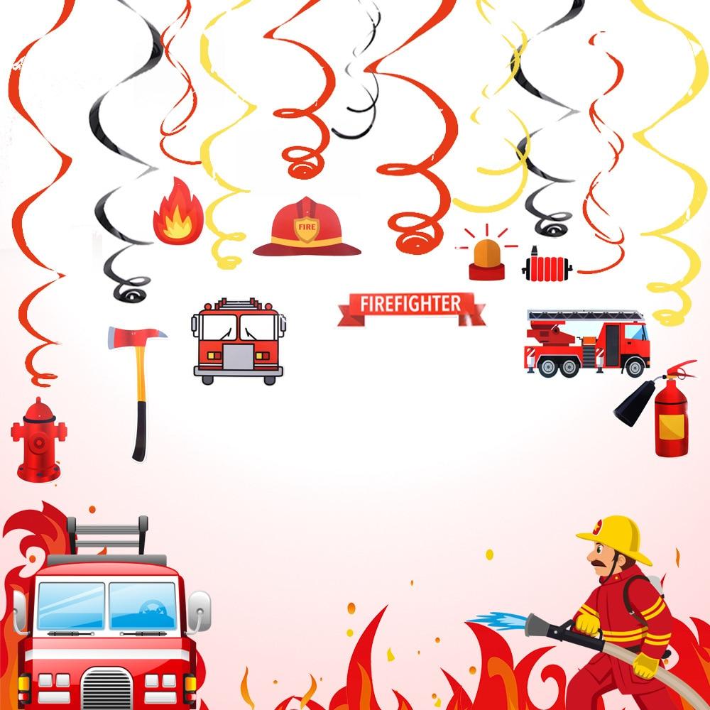 Набор пожарного вечерние украшения DIY спиральный орнамент вихревой украшения пожарные принадлежности для тематической вечеринки вечерние...