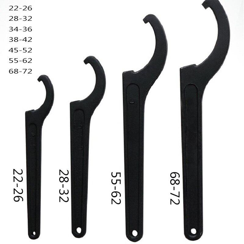 22-72mm Wrench Spanner Tool Adjuster Motorcycle Bike Absorber Shock Spanner Pre Load Hook C Spanner Tool Set Universal Hand Tool