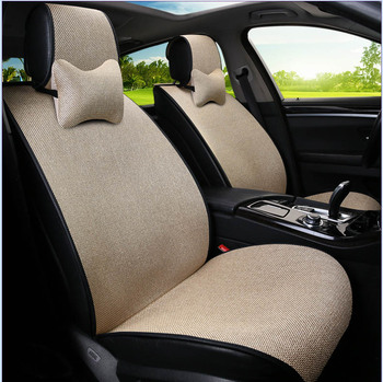 Linen Universal Car Seat Cover Set for volkswagen ford focus 2 audi a3 chevrolet cruze skoda octavia auto accessorie car styling
