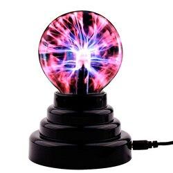 Dotyk palcem aktywowany Blitzball nowość szkło magiczna plazma kula świetlna lampka nocna stołowa lampa akcesoria do dekoracji wnętrz w Błyszczące oświetlenie od Lampy i oświetlenie na