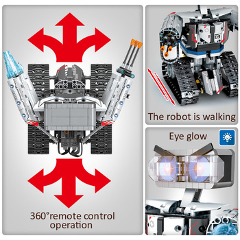 2020 NEW SEMBO Technic RC Robot Building Blocks Creator City Remote Control Intelligent Robot Car Weapon Brick Toys For Children 4