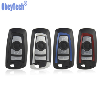 OkeyTech for Bmw Remote Car Key Cover Case Shell Blue Red for BMW E40 E60 E39 F10 F30 F46 X5 1 3 5 4 Button & Emergency Key image