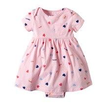 2020 Summer Newborn Baby Dress Bebe Bodysuit 0-24Months