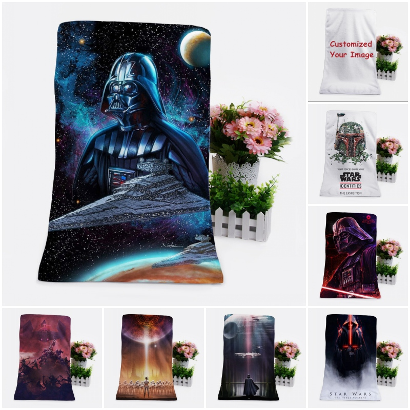 Newest Star War Customized Baby Children Bath Towels Soft Towel Cartoon Washcloth Unisex Kids 70x140cm