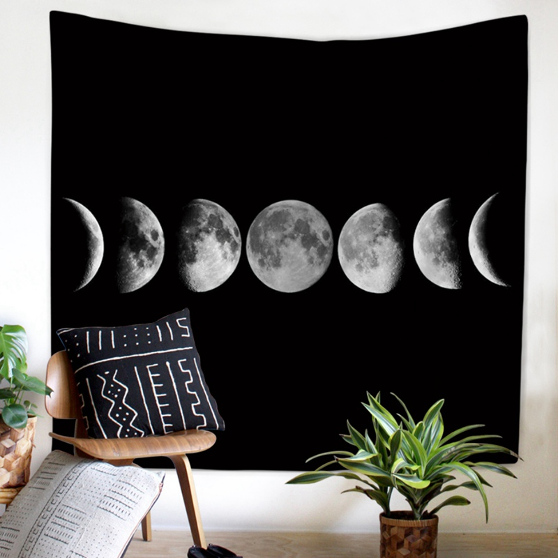 Moon Tapestry Wall Hanging Witchcraft Hippie Beach Throw Rug Moon Travel Home Art Yoga Mat Tapestries