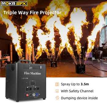 Triple Way Flame Projector dmx fire machine outdoor dj flame machine 6dmx channels high quality valve lcd display - DISCOUNT ITEM  5 OFF Lights & Lighting