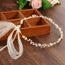 YouLaPan SH03-G Golden pearl womens belts for wedding Ladies  Ribbon Belt waist bead belt bling crystal