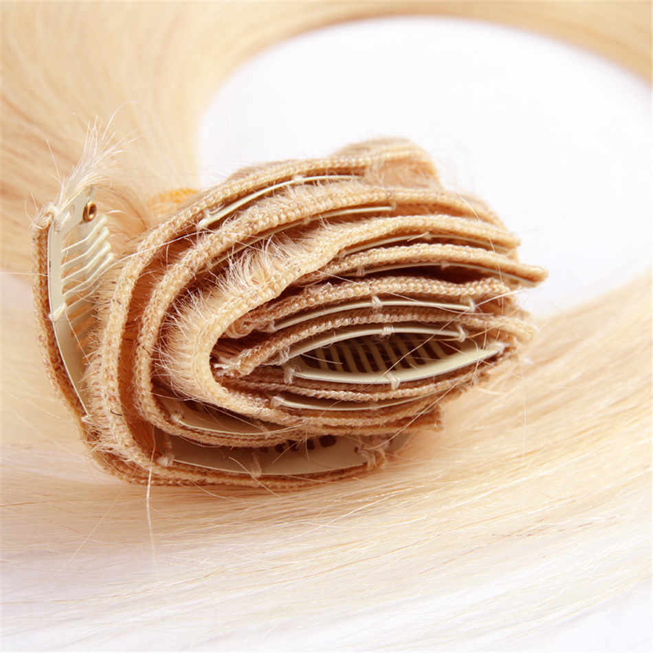 Clip de pelo BUGUQI en extensiones de cabello humano brasileño #22 Remy 16-26 pulgadas 100g Clip hecho a máquina extensiones de cabello humano