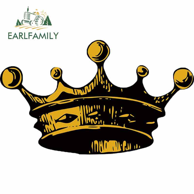 EARLFAMILY 13cm X 7.7cm For Crown King Car Stickers Auto Car Assessoires Decal Personality Creative Interesting Graphics Decor