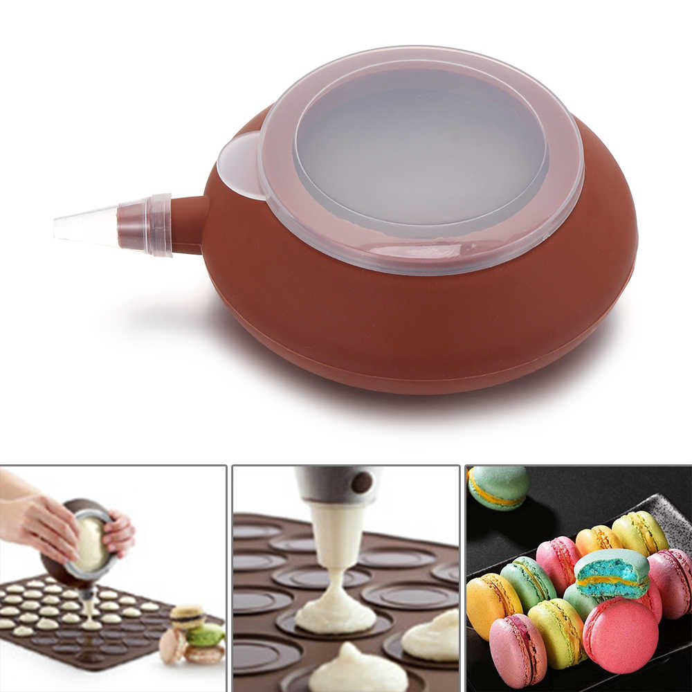 Cake Pastry Macarons Decorating Tool Pot Pastry Cream Tips Food Grade Nozzle Set