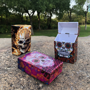 Image 3 - Hornet butterfly & crânio cigarro cigarro plástico caso bolso tamanho 95mm * 60mm cigarro caixa capa fumar cigarro titular