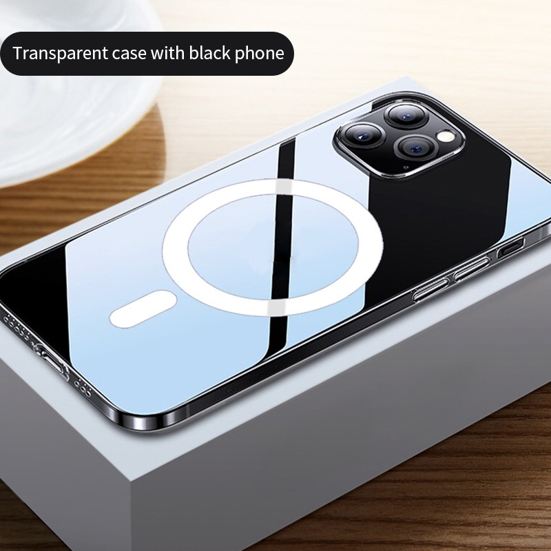 2 in 1 Transparent Magnetic Case iPhone 12 Pro Max