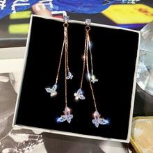 Fashion Luxury Gold Silver Color Metal Long Chain Tassel Drop Earrings Punk Style Women Dangle Earrings Party Jewelry 2019 New punk style geometric chain drop earrings