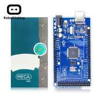 Mega 2560 R3 placa 2012 versión oficial con Chip ATMega 2560 ATMega16U2 para controlador integrado Arduino con caja Original de venta al por menor