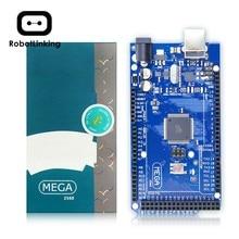 Mega 2560 r3 placa versão offcial com atmega 2560 atmega16u2 chip para arduino driver integrado com caixa de varejo original