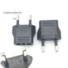 Enchufe usa a EU Mini adaptador americano a Euro Europa europeo Adaptador De Corriente De Viaje AC convertidor toma de corriente
