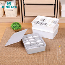 Japan Kinbata. Plastic Wardrobe Underwear Accept Box Drawer Underwear Arrangement Box Desktop Bras Within Panty Hose(China)
