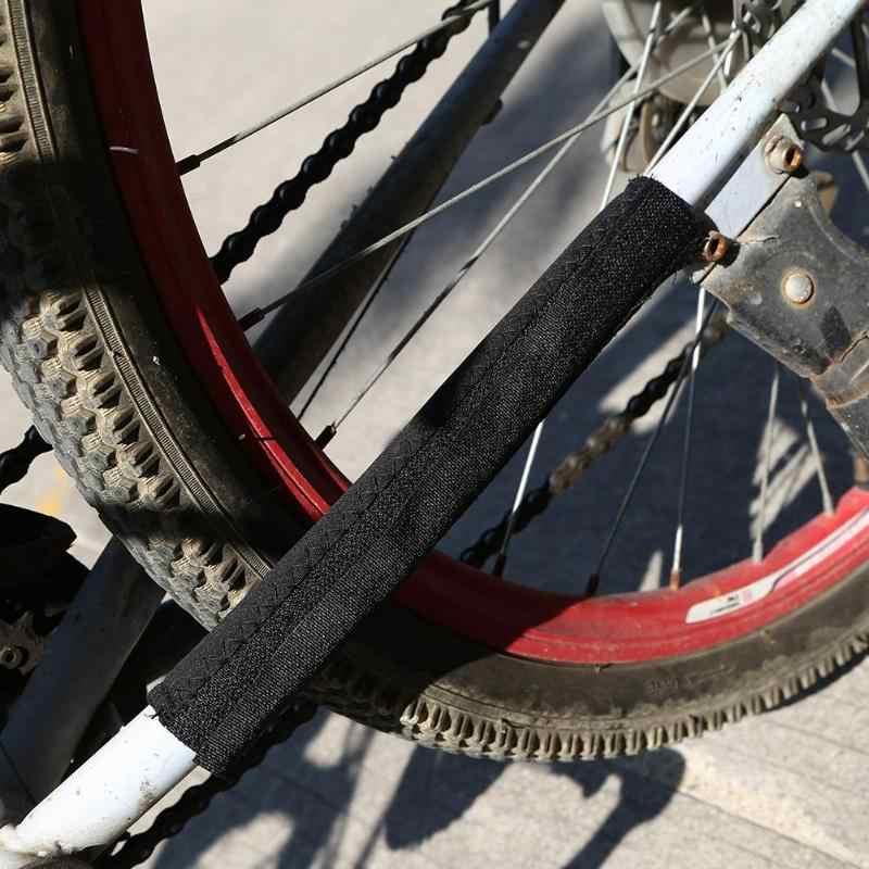 NEUE Bike Fahrrad Rahmen Kette Bleiben Posted Schwarz Polyester Kette Schutz Radsport Zubehör Vermeiden reibung