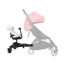 אוניברסלי תינוק עגלות אביזרי דוושת שני ילד עומד צלחת אחורי תליית קרוואן באגי לוח עבור 2 5 בת ילדים
