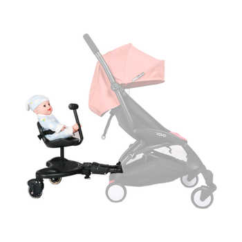 Universal Baby Strollers Accessories Pedal Second Child Standing Plate Rear Hanging Trailer Buggy Board For 2-5 Year Old Kids - DISCOUNT ITEM  21% OFF All Category