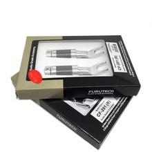 Furutech CF 201(R) Copper Rhodium Plated Carbon  connectors plugs Y Spade Original box