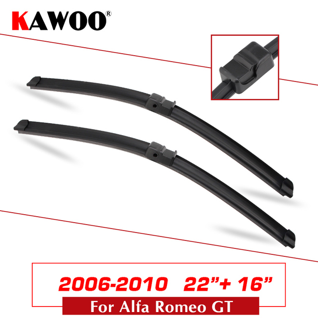 US $12.96 18% OFF|Car Wiper Blade for Alfa Romeo GT 937 2003 2004 2005 2006 2007 2008 2009 2010 Soft Natural Rubber Wipers Fit Side PinU Hook