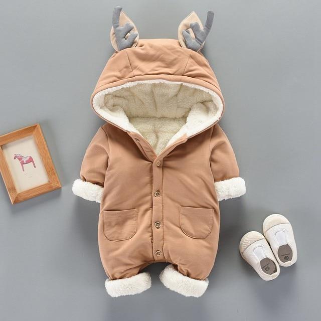 Fleece Winter Jumpsuit- Reindeer