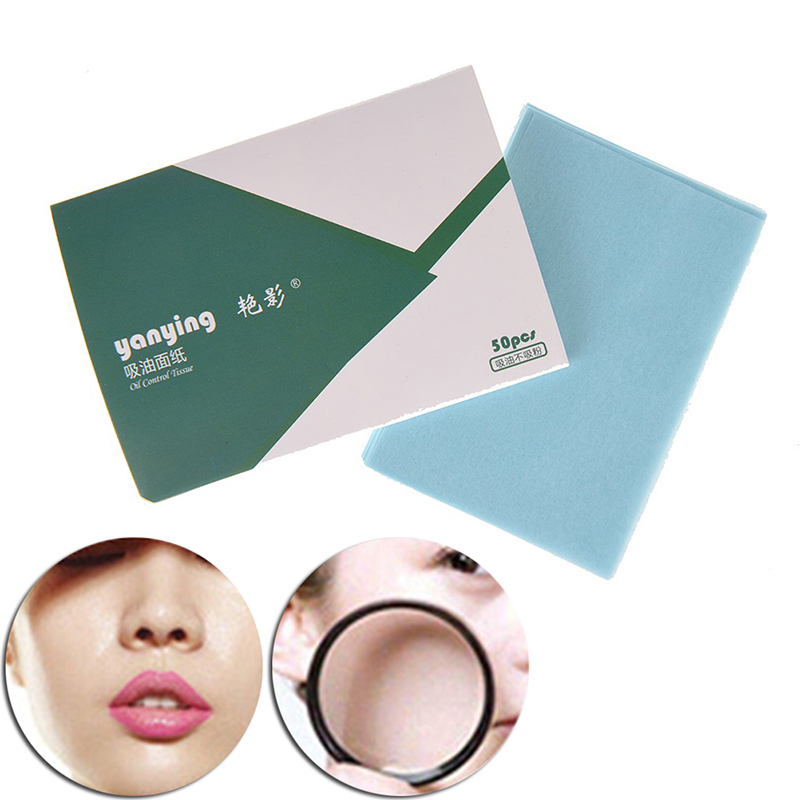 500pcs/10packs 10c X 7.2cm Facial Oil Blotting Sheets Oil Absorbing Papers Oil Control Face Skin Makeup Care Tool