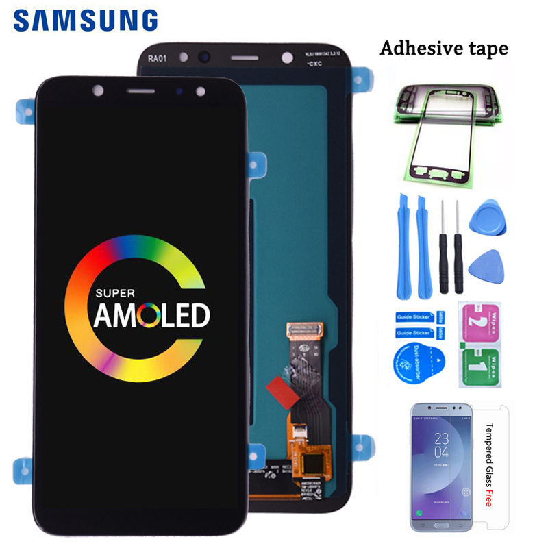 Original Super AMOLED For <font><b>SAMSUNG</b></font> <font><b>Galaxy</b></font> <font><b>A6</b></font> 2018 A600 A600F A600FN LCD <font><b>Display</b></font> with Touch Screen Digitizer Assembly image