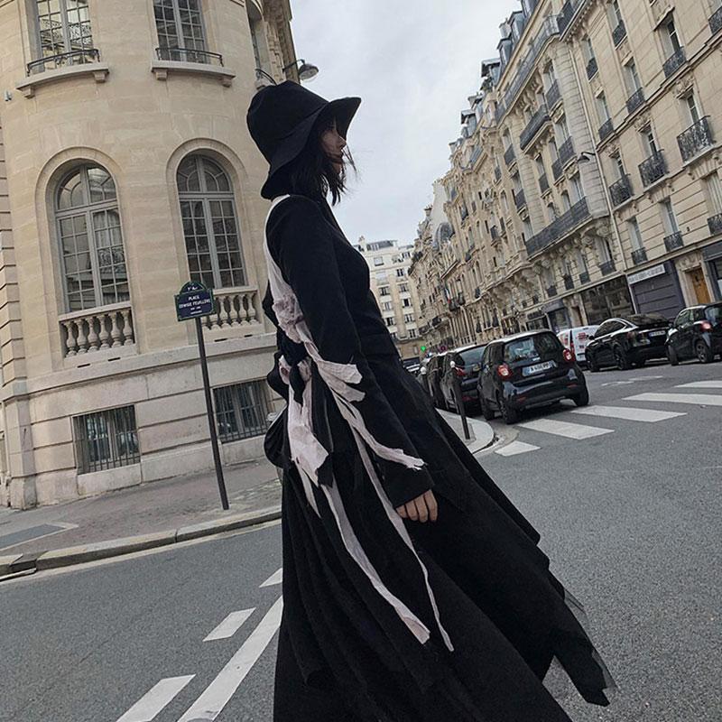 XITAO Irregular Women Blazer Fashion 2019 Winter Single Breast Full Sleeve Bandage Small Fresh Casual Patchwork Coat GCC2982