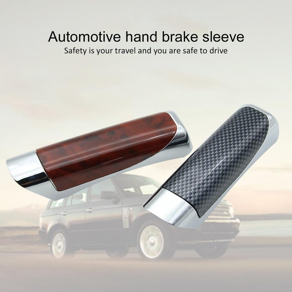 New Auto Carbon Fiber Car Style Handbrake Hand Grip Break Protector Cover Fashion Hand Brake Cover Double-sided Adhesive