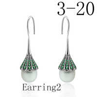 2019 100% 925 Sterling Silber Bear Stud Ohrringe Mode Durchbohrt Ohrringe Schmuck Hersteller Großhandel Freies Verschiffen