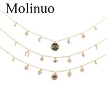 Molinuo devils eyes pendant womens necklace fashion glamour lady customizable