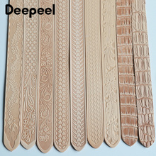 Deepeel 1pc 3.8cm*110\120cm First Layer Cowhide Embossed Belt with Pin Buckle Band DIY Handmade Crafts Leather Belts Accessories