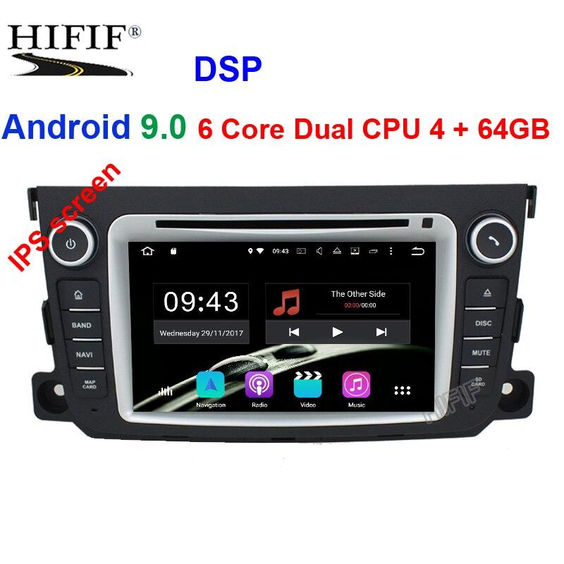2 Din Auto Radio Android 9 For Mercedes Benz Smart Octa Core 4GB RAM 64GB ROM Radio Car DVD GPS Navigation SystemCar Multimedia