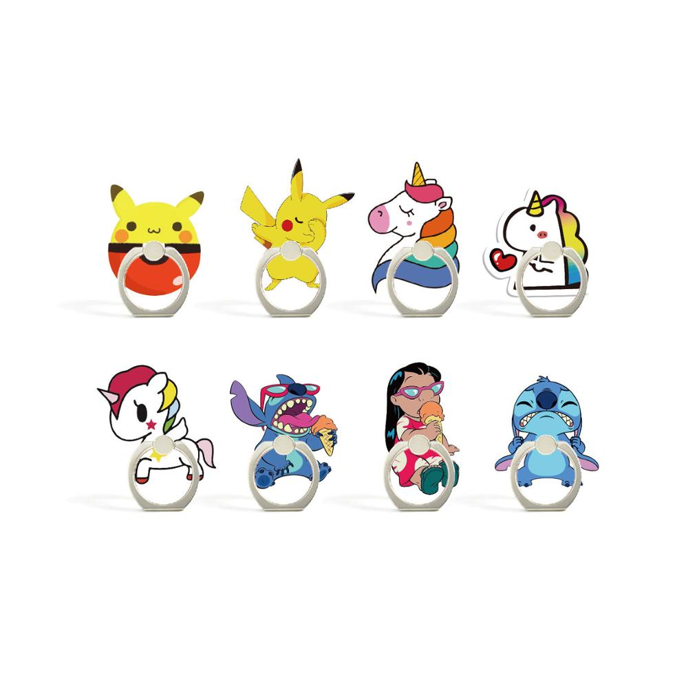 Universal Color Unicor Finger Ring Mobile Cell Phone Cute Cartoon Phone Holder Stand For IPhone XS MAX XR Bracket Holder