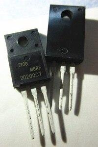 10 sztuk/partia MBRF20200CTG MBRF20200CT MBRF20200 20200CTG B20200G 20A/200V TO-220F