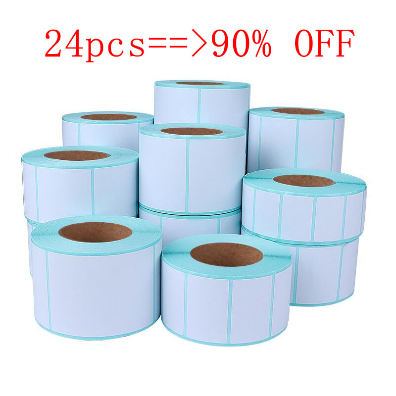 Thermal Label Paper Sticker Bar Code Computer Cable Lable