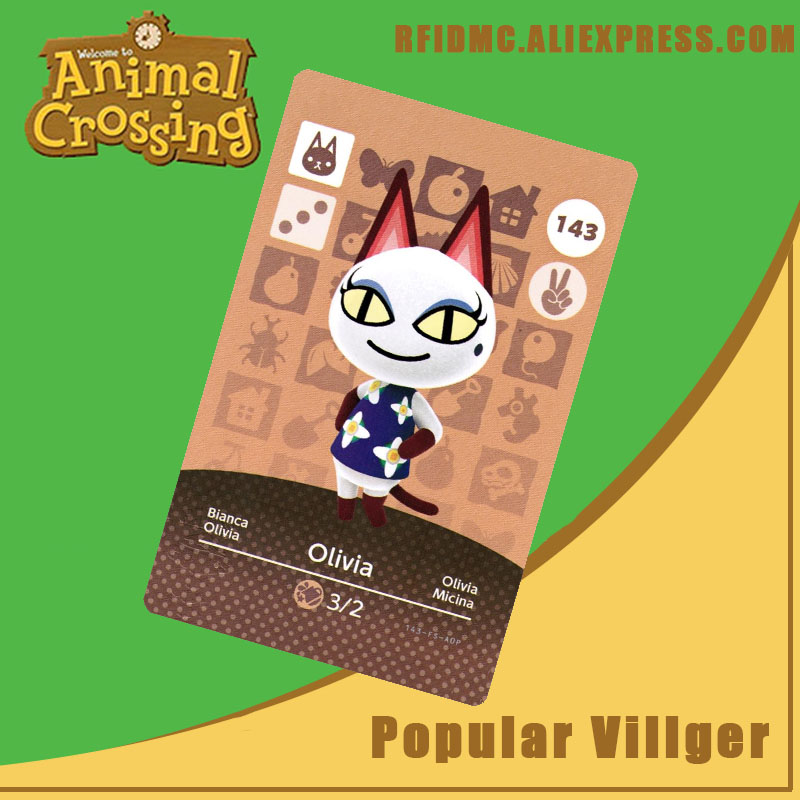 143 Olivia Animal Crossing Card Amiibo For New Horizons