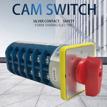 40A Cam Switch 24 Terminals 5 Positions DIY Rotary Changeover Switches LW5-40/6 Control Different Loads