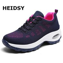 Women Sneakers Lightweight Thick Bottom Platform Shoes Breathable Mesh