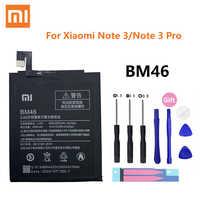Xiao mi 100% Batterie d'origine BM46 pour Xiao mi rouge mi Note 3 Note3 Pro Batterie principale 4000mAh capacité réelle Batterie Rechargeable
