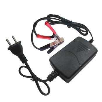 12V 1A Universal Portable Car Truck Motorcycle Alligators Clip Battery Charger image