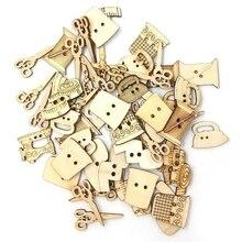 100 шт швейные ножницы деревянные пуговицы в форме швейные кнопки для детской одежды декоративные кнопки принадлежности для скрапбукинга