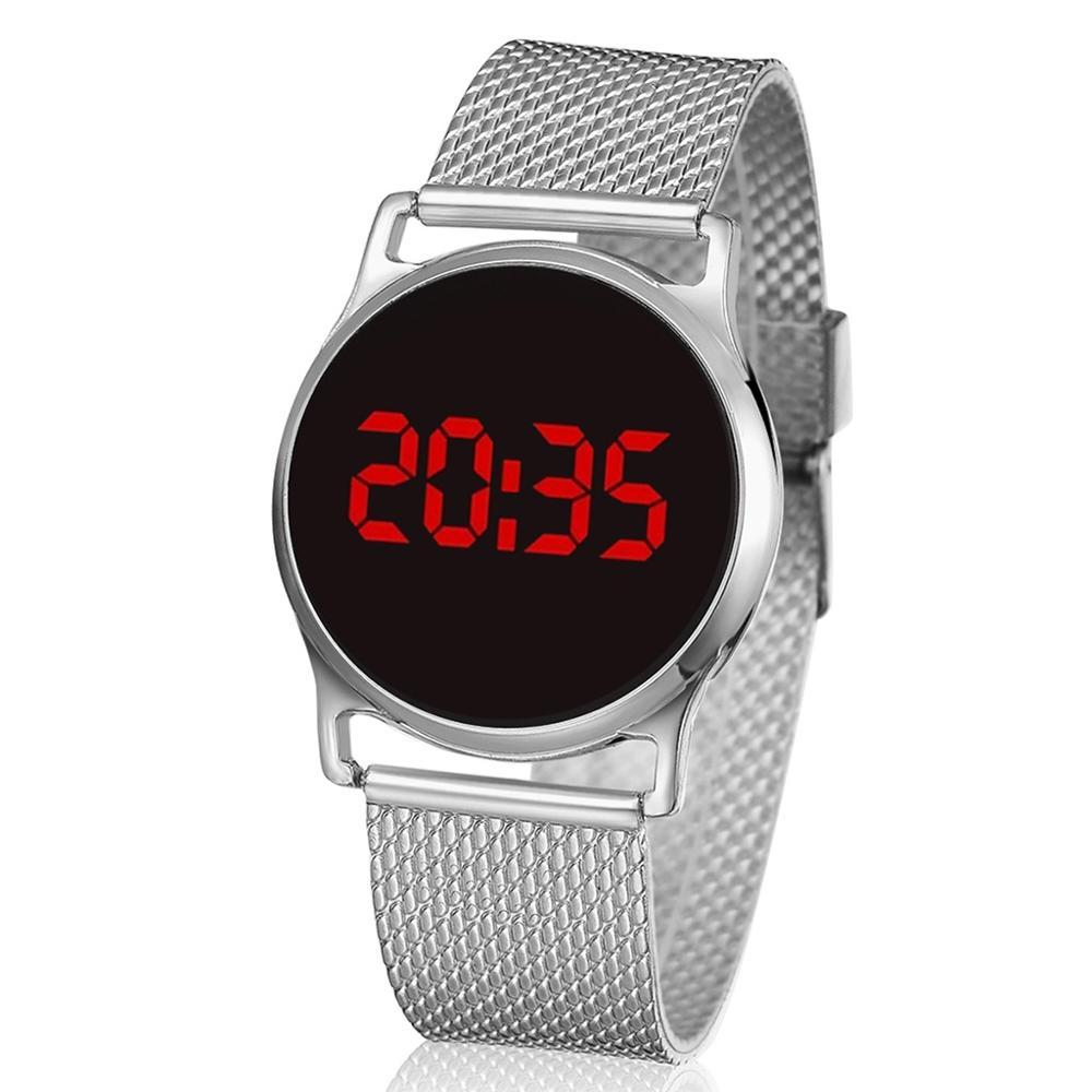 New Gold LED Digital Watches Bracelet Children Women Watch Men Electronic Wristwatch Sports Shock Fashion Clock Montre Femme