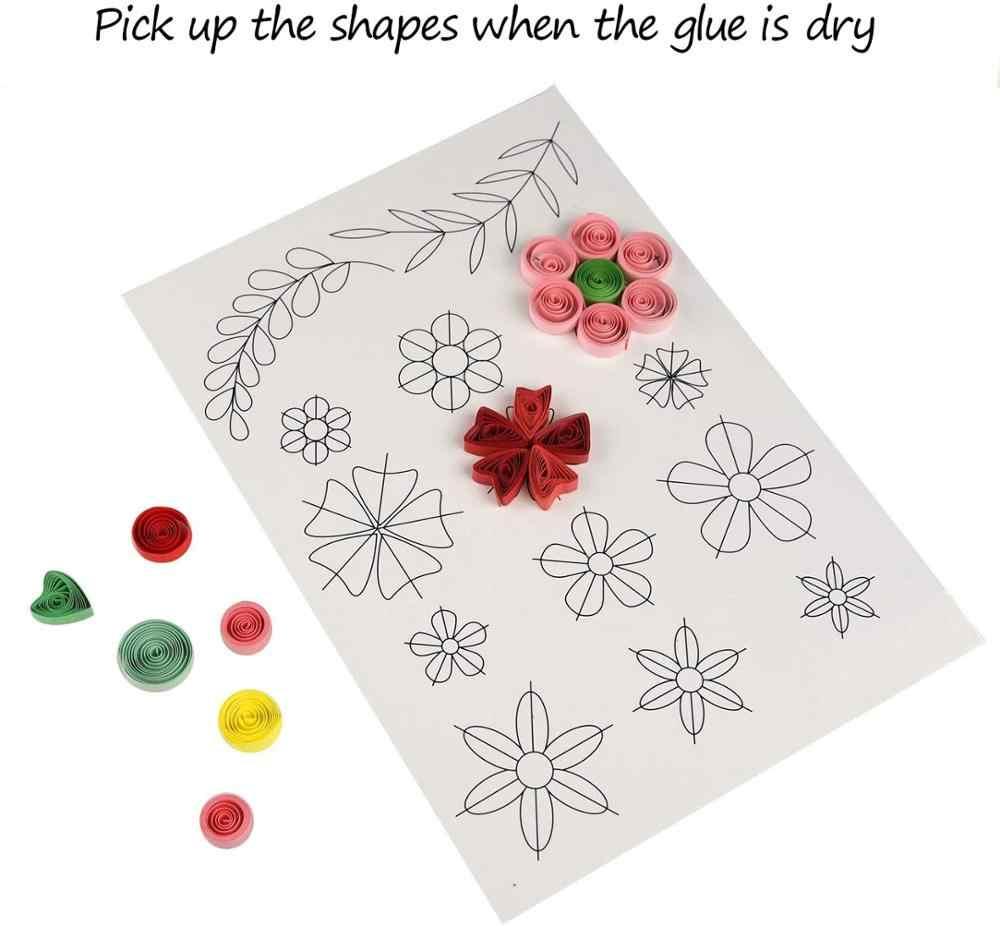 260 Tiras Papel Quilling Papel De Regalo De Flores Para Artesanía Decoración de papel hecha a mano HGUK