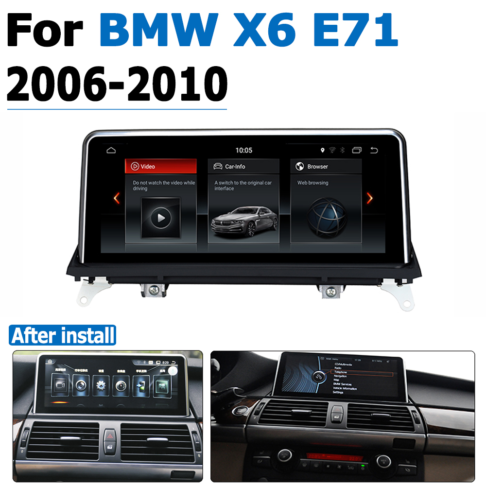 <font><b>Android</b></font> <font><b>8.0</b></font> up <font><b>Car</b></font> DVD Navi Player For BMW X6 E71 2006~2010 CCC Audio <font><b>Stereo</b></font> HD Touch Screen all in one image