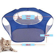 Small Animals Playpen Cage Breathable Waterproof Small Pet Cage Tent with Zippered Cover Yard Fence(China)