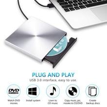 Usb 3.0 Aluminium Externe Dvd Brander Schrijver Recorder Cd Rom Speler Slim Draagbare Optische Drive Voor Laptop Pc Windows